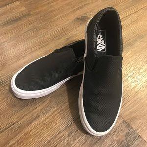 Vans Black Perforated Slip-On's